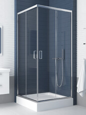 Душевой уголок (раздвижные двери) квадратный New Trendy Feria 90x90 с поддоном