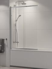 Шторка для ванны New Trendy SENSI 100 хром (P-0038)