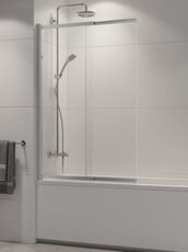 Шторка для ванны раздвижная New Trendy SENSI 85 хром (P-0037)