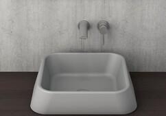 Умывальник Bocchi Firenze 42х42 серый матовый (1005-006-0125)