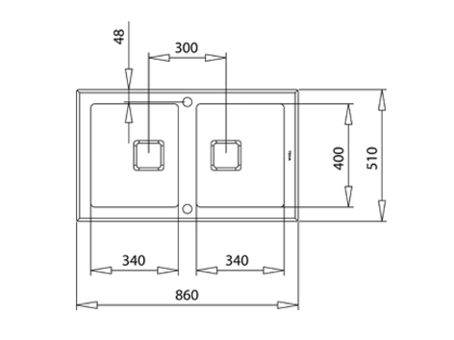 Кухонная мойка Teka DIAMOND RS15 2B 86 BLACK (с клапаном-автоматом)
