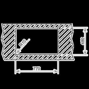 Кухонная мойка Teka UNIVERSO MAX 79 1B 1D REV (рекурсивная, полированная, с сифоном)