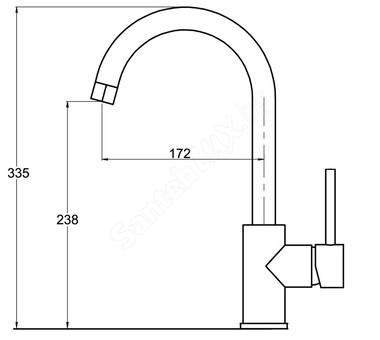 Смеситель для кухни Aquasanita Sabia 5523 111 silica (5523 111 SIL) (кварц)