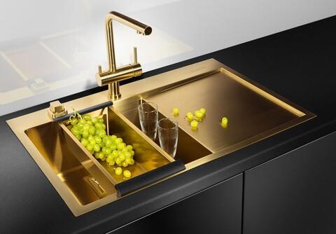 Кухонный смеситель Omoikiri Nagano-PVD-G 4994178 (золото)