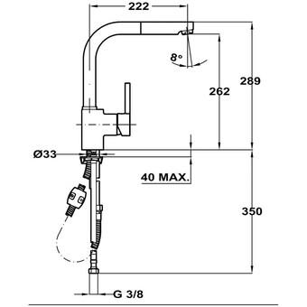 Кухонный смеситель Teka ARK 938 (белая эмаль)