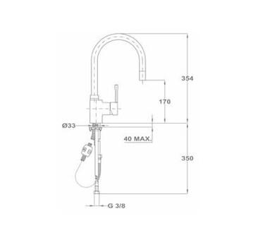 Кухонный смеситель Teka ARK 998 239981210