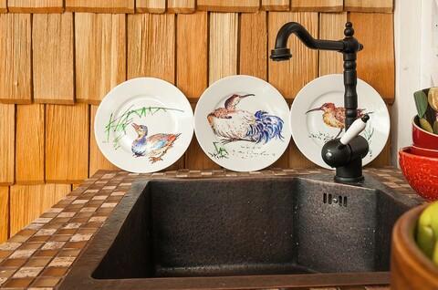 Кухонный смеситель Omoikiri Kyoto-PVD-O 4994288 (черный/античная бронза)