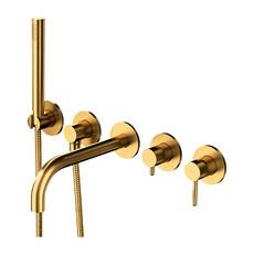 Смеситель для ванны Omnires Y на 2 потребителя Y1237/1GLB (брашированное золото)