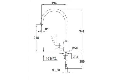 Кухонный смеситель Teka SP 995 TG (карбон) 55995020CN