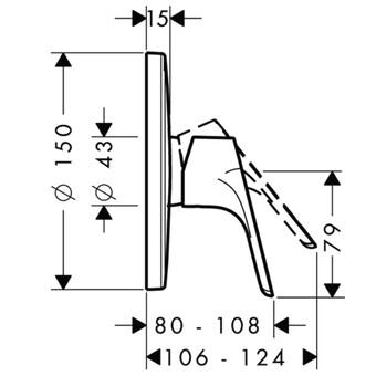 Смеситель скрытого монтажа Hansgrohe Focus E2 (31965000)