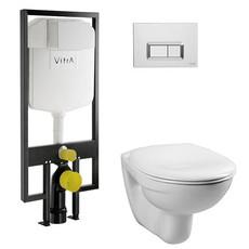 """Комплект Vitra Normus 4 в 1 инсталляция + унитаз + кнопка + крышка """"микролифт"""" (9773B003-7200)"""