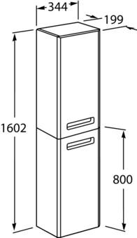 Шкаф-пенал Roca Gap ZRU9302739 34,5x20x160 L, белый