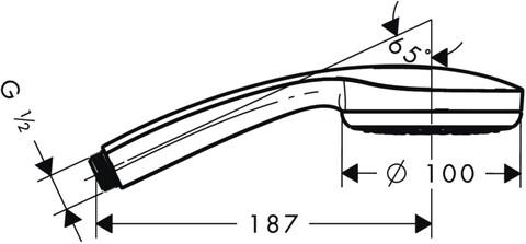Душевая лейка Hansgrohe Croma 100 (28580000)