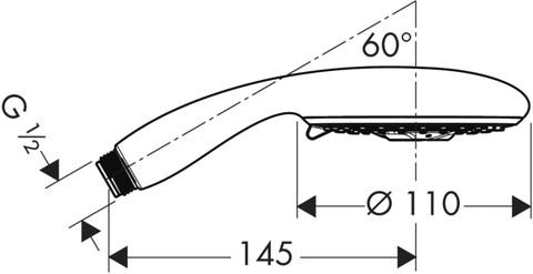 Душевая лейка Hansgrohe Raindance E 100 AIR (28502000)