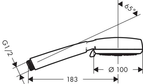 Душевая лейка Hansgrohe Crometta 100 Vario (26824400)