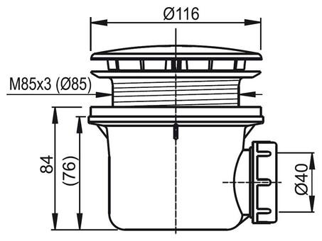 Сифоны Ravak Сточный комплект STANDARD 90 хром, арт. X01314