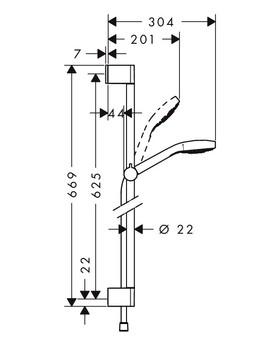 Душевой гарнитур Hansgrohe Croma Select E Multi (26580400)