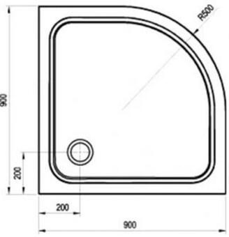 Душевой поддон Ravak Elipso Pro-90 90х90 см chrome (XA247701010)