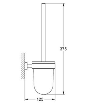 Grohe Туалетный ершик в комплекте Essentials Cube 40513000