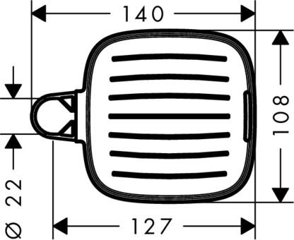 Hansgrohe Мыльница Casetta E 26519000