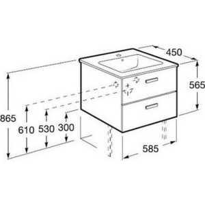 Шкаф под умывальник Roca Victoria Nord ZRU9000027 58,5x45x56,5, венге
