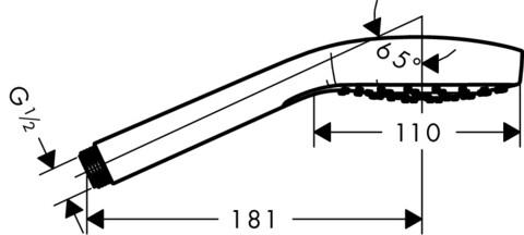 Душевая лейка Hansgrohe Croma Select E (26814400)
