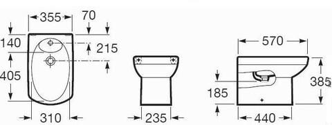 Биде DAMA SENSO compacto А355517000