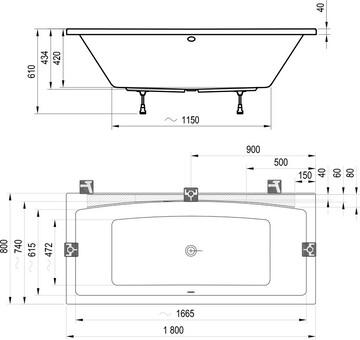 Ванна акриловая Ravak Formy 02 180x80 (C891000000)