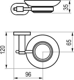 Ravak Мыльница CHROME X07P187