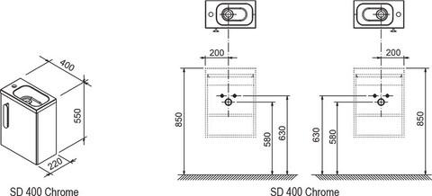 Тумба под умывальник Ravak Тумба под умывальник SD Chrome 400 [X000000538] (X000000538)
