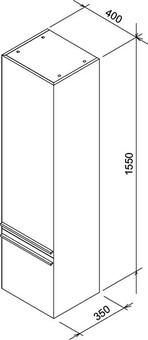 Шкаф-пенал Ravak Шкаф-пенал SB 400 RAVAK CLEAR 40X35X155 R белый/орех (X000000764)