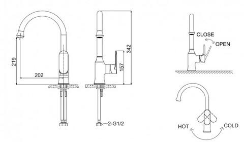Смеситель для кухни Bravat Opal (F7125183CP-RUS)