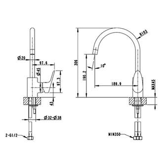 Смеситель для кухни Bravat Drop (F74898C-1)