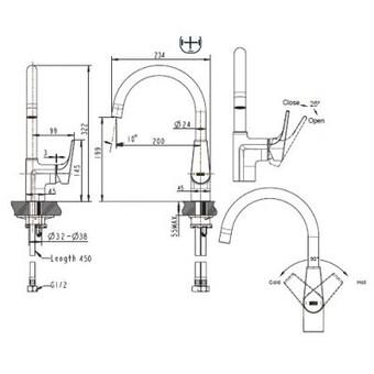 Смеситель для кухни Bravat Vega (F7119177CP-3)