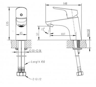 Смеситель для умывальника Bravat Drop (F14898C-1)