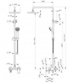 Душевая система Bravat Opal (F6125183CP-A4-RUS)