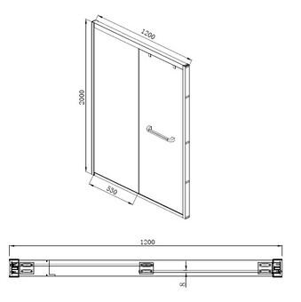 Душевая дверь в нишу Bravat NPD6122 1200х2000 (NPD6122)
