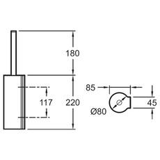 Ершик для туалета с держателем Jacob Delafon Singulier 15222D-CP