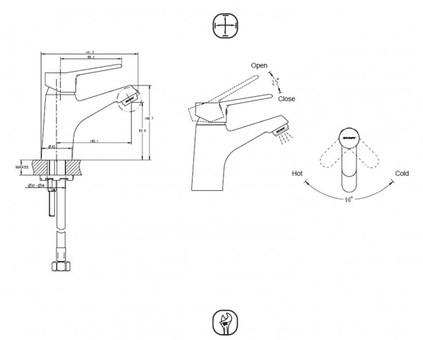 Смеситель для умывальника Bravat Eco-K (F1111147C)