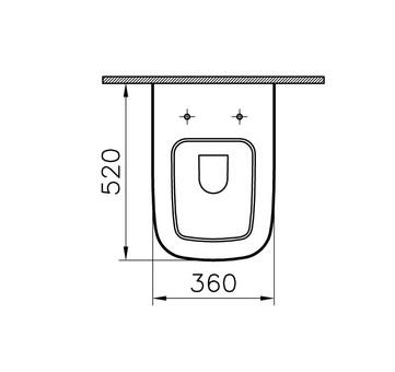 Унитаз подвесной Vitra S20 с сиденьем микролифт (5507B003-6066)