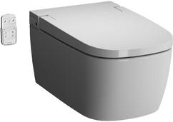 Унитаз подвесной безободковый Vitra V-Care Basic с сиденьем микролифт (5674B003-6103)