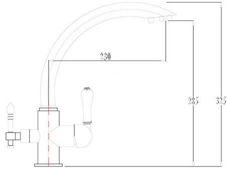 Смеситель для кухни Kaiser Vincent ф35 Silver серебристый (31244-2)