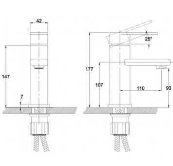 Смеситель для умывальника Kaiser Arena ф35 тюльпан (33011)