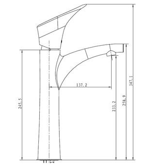 Смеситель для умывальника Kaiser Calla ф35 тюльпан (71111)