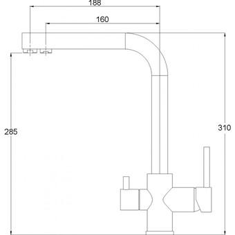 Смеситель для кухни Aquasanita Akvaduo 2663 002 никель (2663 002 NIC)