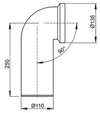 Колено для унитаза Alca Plast 90° A90-90