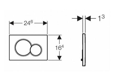 Смывная клавиша Geberit Sigma 01 (115.770.DW.5)