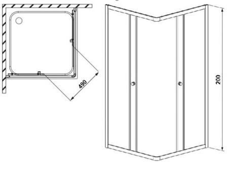 Душевой уголок Bravat BS090.2200A 90х90 (BS090.2200A)