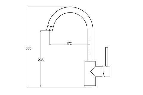 Смеситель для кухни Aquasanita Sabia 5523 202 alumetallic (5523 202 ALM) (алюметаллик)