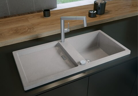 Кухонная мойка Blanco Adon XL 6 S (бетон, с клапаном-автоматом InFino)